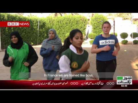 5 French Boxers Train Girls at 2 Lyari Clubs - News Pakistan TV