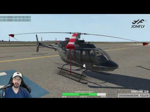 How to start and crash a Bell407 Helicopter in X-plane 11 B407 Cold and Dark