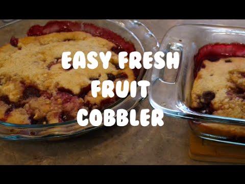 Easy Fresh Fruit Cobbler