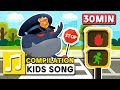ROAD SAFETY SONG 30MIN COMPILATION LARVA KIDS SUPER BEST SONGS FOR KIDS LEARNING SONG