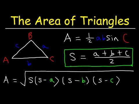 Area of an Oblique Triangle - SAS & SSS - Heron's Formula, Trigonometry