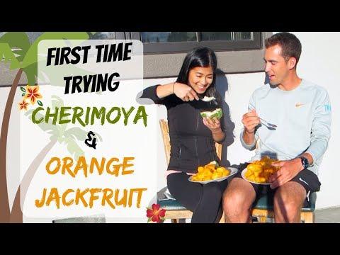 Cherimoya & Orange Jackfruit Taste Test!