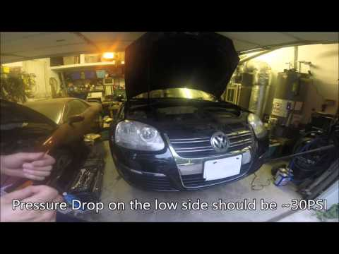 AC Pressure Control Valve Replacement VW Jetta MKV
