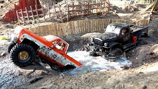 Download Two Trucks Compete on a Large Backyard Scale Trail Park | RC ADVENTURES Video