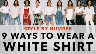 9 Ways to Wear a White Shirt - Style By Number | Aimee Song