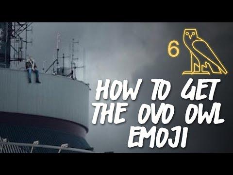 HOW TO GET THE OVO OWL EMOJI ⁶𓅓