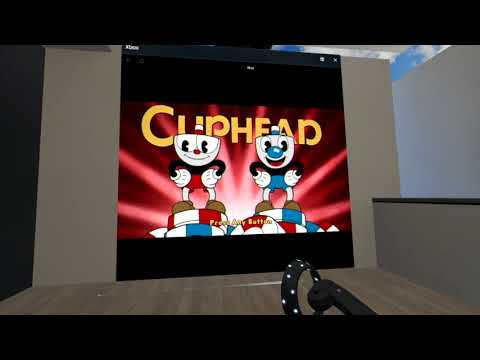 Playing CupHead on the Xbox ONE with the Windows Acer Mixed Reality Headset