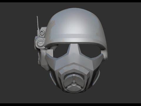 Zbrush - Fallout NCR Ranger - Part 2 of ? - Helmet Retopology 1