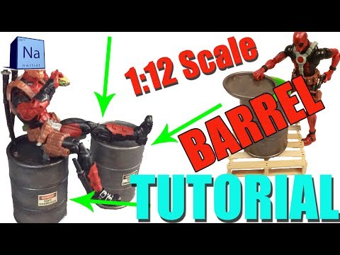 Toxic Barrell Tutorial For 6 inch Marvel Legends 1:12 Scale Diorama