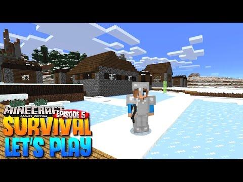 SNOW VILLAGE!! - MCPE 1.0 Survival Let's Play EP.5 - Minecraft PE (Pocket Edition)