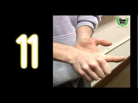 Numbers 1 to 20 in Irish Sign Language (ISL)