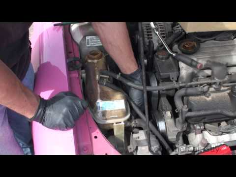 how to replace a chevy malibu coolant tank simple and easy