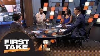 First Take debates how much pressure is on LeBron James after joining Lakers   First Take   ESPN