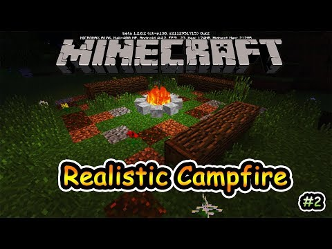 How to make Realistic Campfire in Minecraft PE 1.2 (v2 updated)
