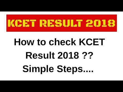 How to check KCET result 2018?|Karnataka Common entrance 2018|