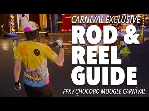 Final Fantasy XV Moogle Chocobo Carnival: FISHING ROD and REEL info
