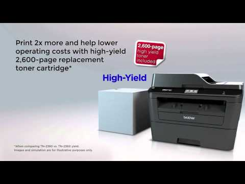 Brother MFC-L2740DW Professional Mono Laser All-in-One Printer Network Wi-Fi Fax at Huntoffice.ie