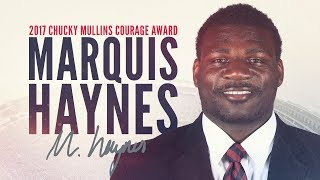2017 Chucky Mullins Courage Award Winner: Marquis Haynes
