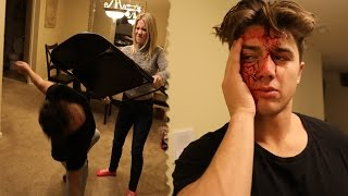 SHE CRACKED HIS HEAD OPEN WITH A CHAIR!