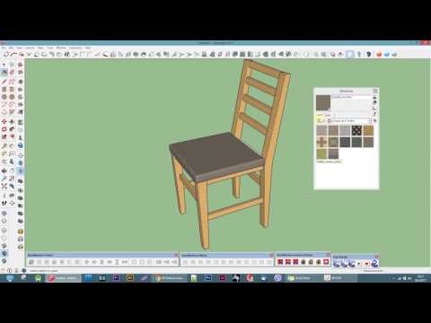 Make a simple chair - Google sketchup