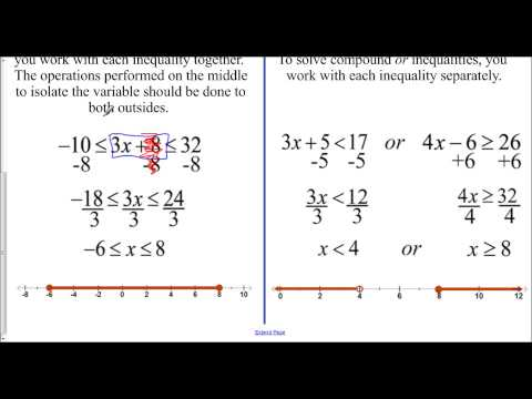 Lesson 1.3 - Intro to Compound Inequalities