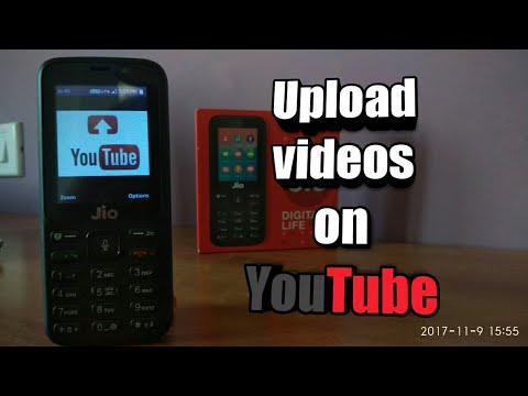Jio phone : Upload videos to YouTube ✓