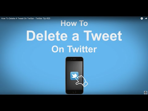 How To Delete A Tweet On Twitter - Twitter Tip #20