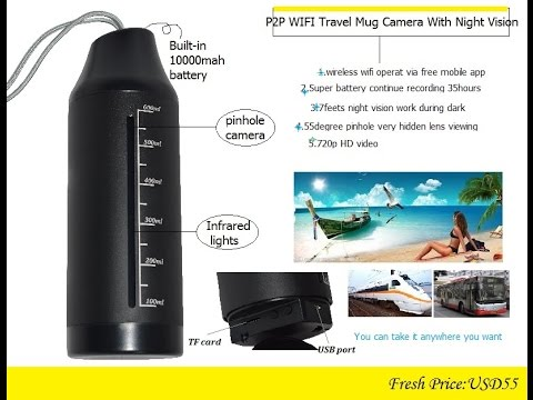 Undercover Outside and On The Go Mug Night Vision Wifi Hidden Camera With 10000mah Battery
