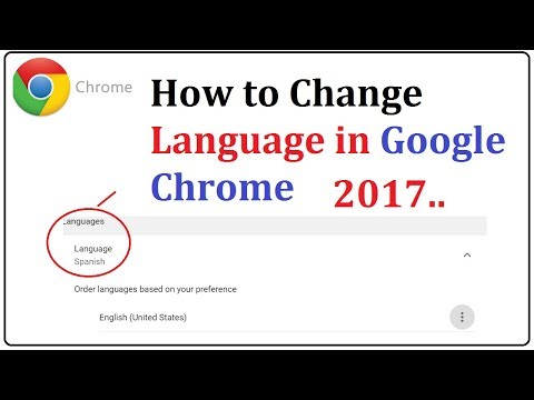 how to change google chrome language