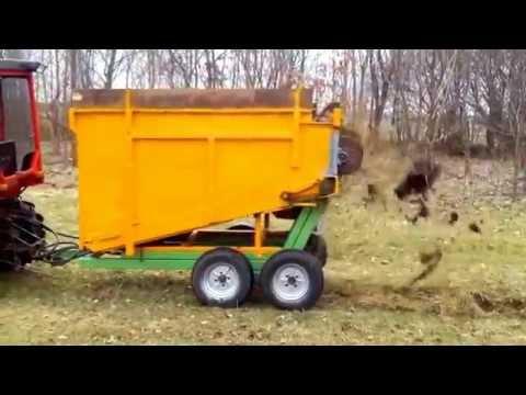 Møgspreder, homemade manure spreader, Tipping trailer
