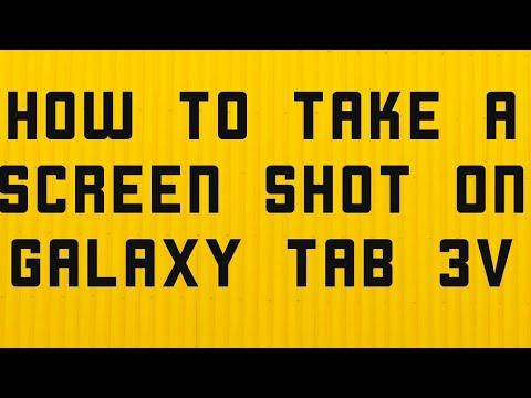 How to take screenshots in galaxy tab 3V