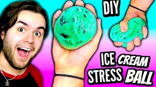 Download DIY Ice Cream Stress Ball! | How To Make A Squishy Mint Chocolate Chip DIY Stress Ball Tutorial Video