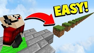NOOB vs EASIEST MINECRAFT PARKOUR MAP! 😂