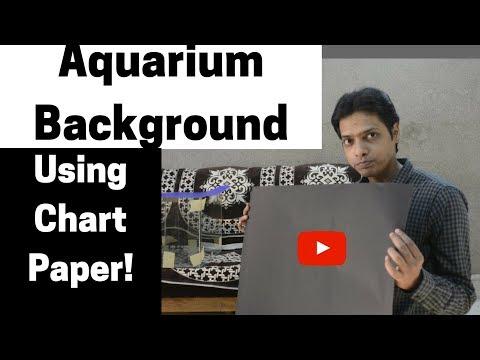 Aquarium Background using Chart Paper