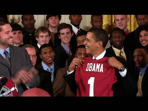 President Obama Welcomes BCS Champion Alabama