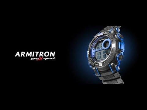 armitron pro sport time setting