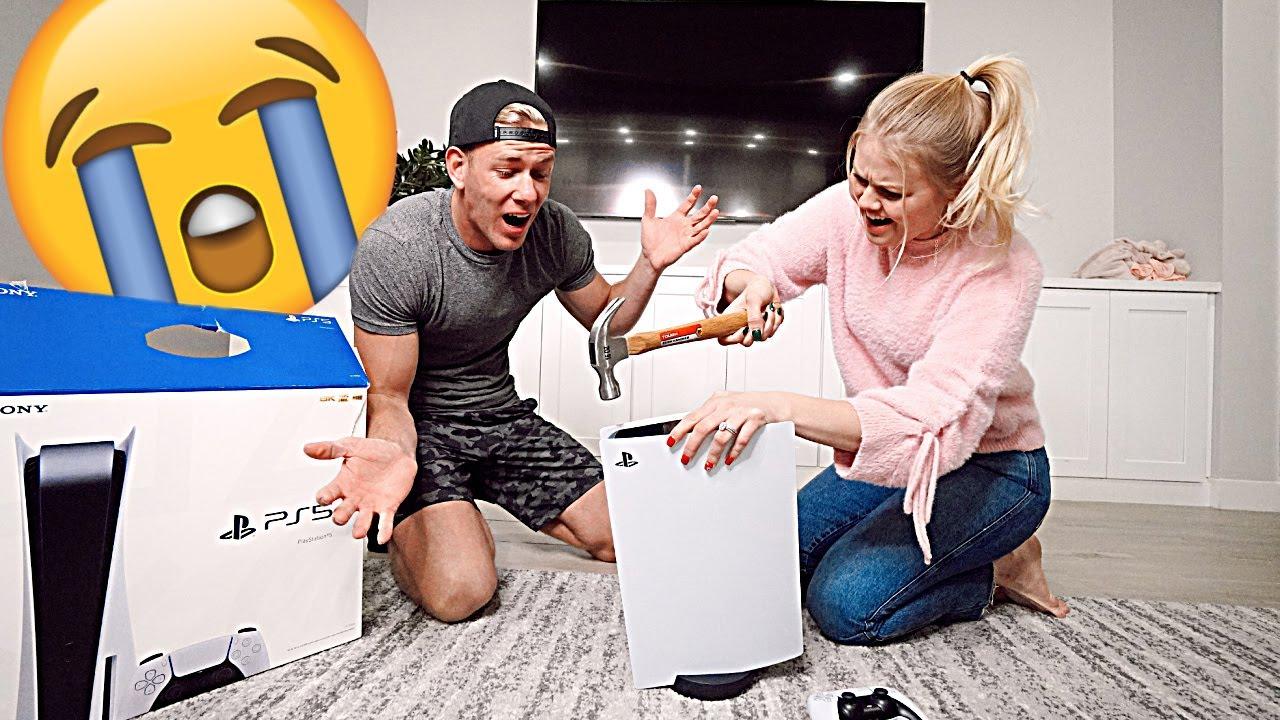 I BROKE MY HUSBANDS PLAYSTATION 5!! *PRANK*