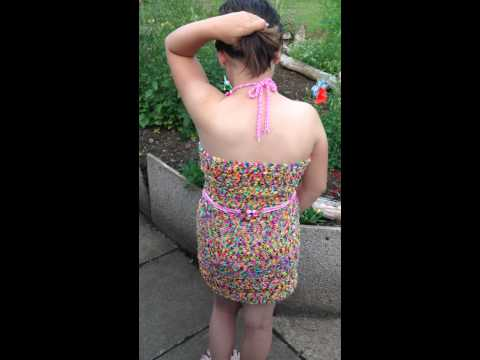 Loom Band Dress - Final Video - The Dress is Complete !
