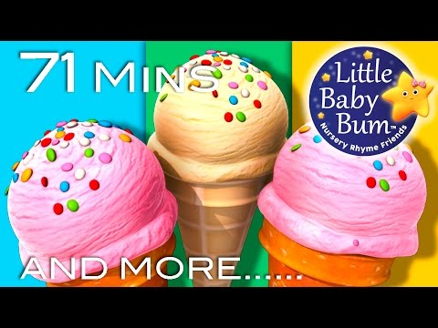 Ice Cream Song | Plus Lots More Nursery Rhymes | 71 Minutes Compilation from LittleBabyBum!
