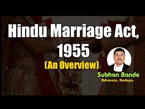 'Hindu Marriage Act 1955: An Overview' by Subhan Bande, Advocate, Kadapa (Cuddapah)