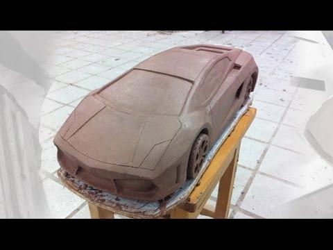 Clay car modeling Lamborghini