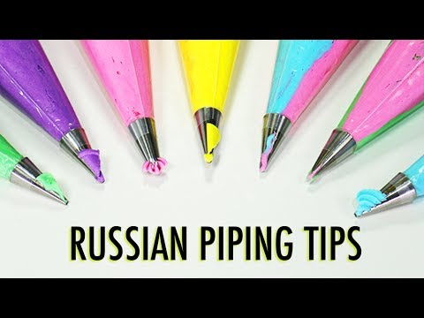 RUSSIAN PIPING TIPS - (THE POINTY ONES) - What are they & What do they do? - YouTube