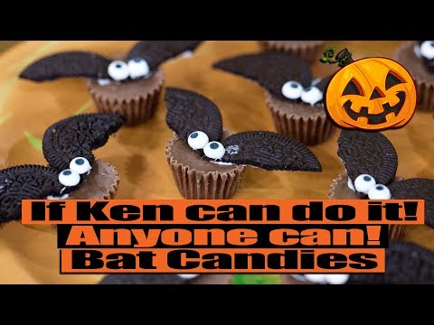 Appletinis with Ken-We're making bat candies for Halloween!