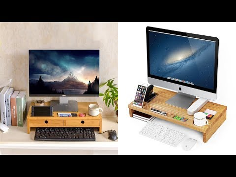 Monitor Stand Riser with Drawers just under 25$
