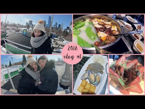 WHAT I EAT IN A DAY#1|  All you can eat Hot Pot+ Crepe Dessert + Ice skating! | KEEMI★VLOG