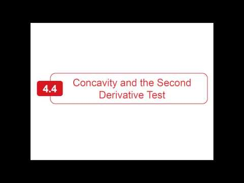 Section 4.4 - Larson Calculus - Concavity and the Second Derivative Test