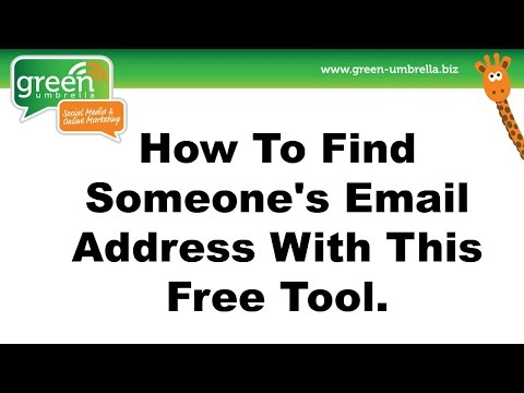 Email Address - How to source an email address using this free tool
