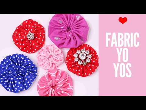 How to Make FABRIC FLOWERS | DIY Fabric Yo Yo | Flower Making | Templates
