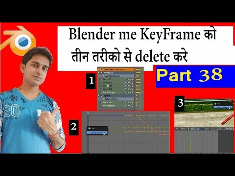 How To Delete KeyFrame in Blender 3D Animatiom Tutorial part 38 in Hindi