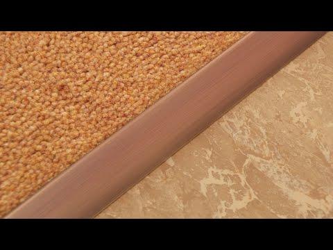 Fitting the Stairrods UK Single9 Door Threshold Carpet to LVT